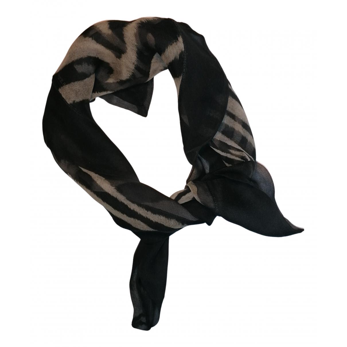 Roberto Cavalli - Foulard   pour femme en soie - noir