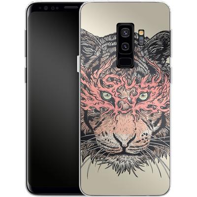 Samsung Galaxy S9 Plus Silikon Handyhuelle - Masked Tiger von Mat Miller