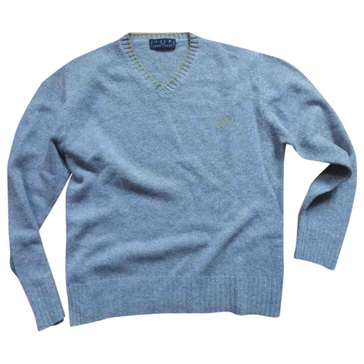 Fred Perry - Pulls.Gilets.Sweats   pour homme en laine - gris