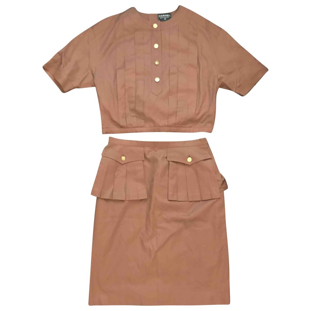 Chanel - Top   pour femme en coton - marron
