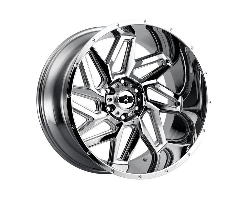 Vision Wheels 361-24285C-51 Spyder Wheel 24x12 5x139.70x51 CSCHXX Chrome