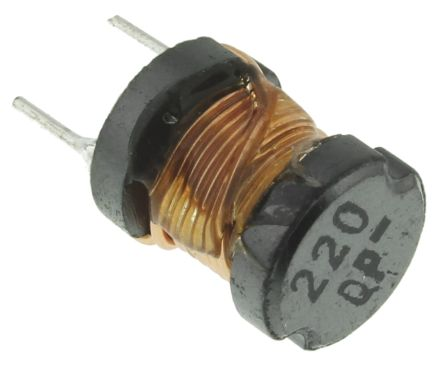 Panasonic 22 μH ±10% Ferrite Leaded Inductor, 2A Idc, 34mΩ Rdc, ELC08D (5)