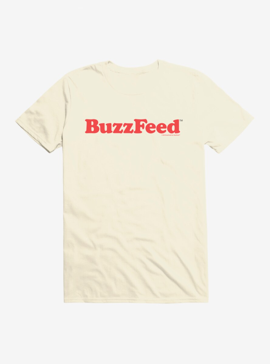 Buzzfeed Red Name Logo T-Shirt