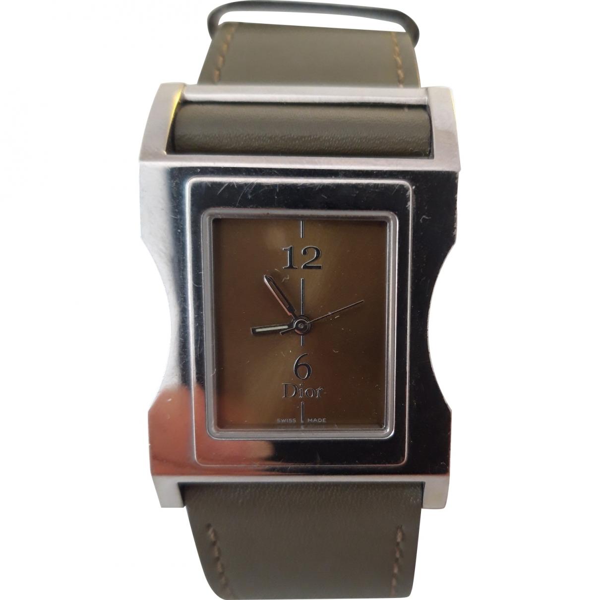 Dior \N Uhr in  Khaki Stahl
