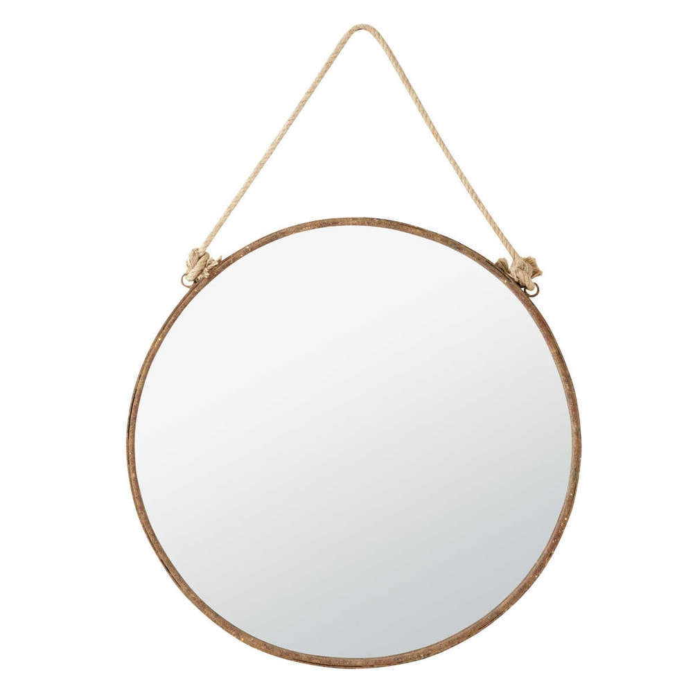 Spiegel aus Metall mit Rosteffekt, D70