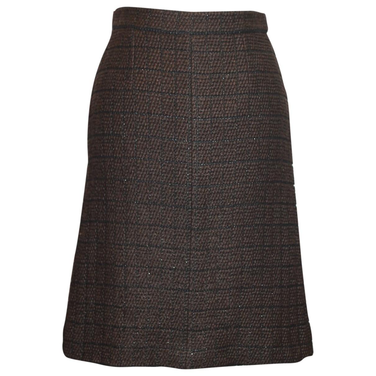 Chanel - Jupe   pour femme en laine - marron