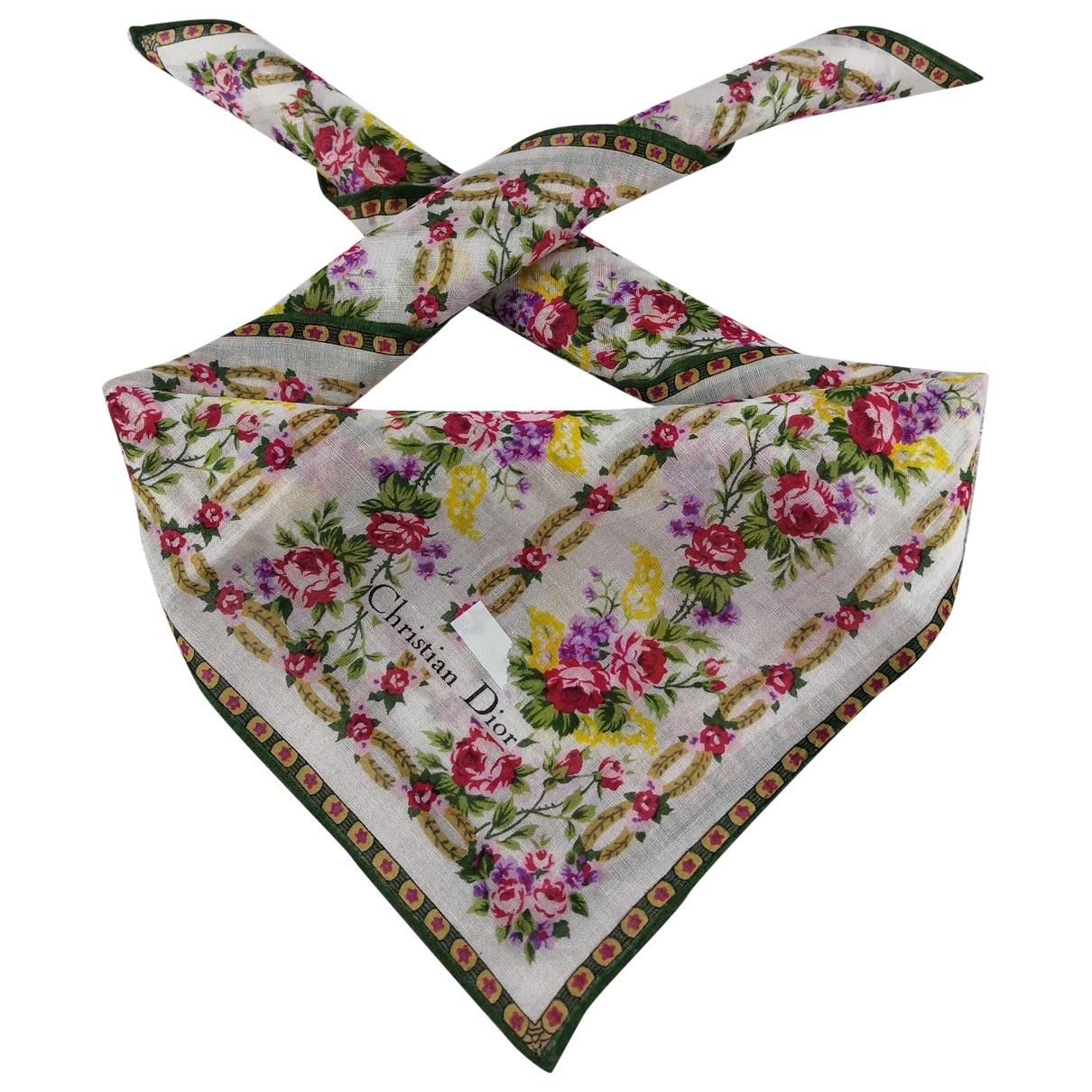 Dior \N Silk Silk handkerchief for Women \N