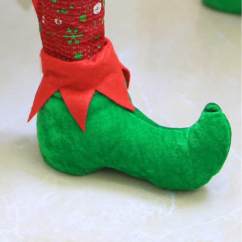 Clown Shoes Shape Chair Leg Socks Christmas Decoration Set of 4