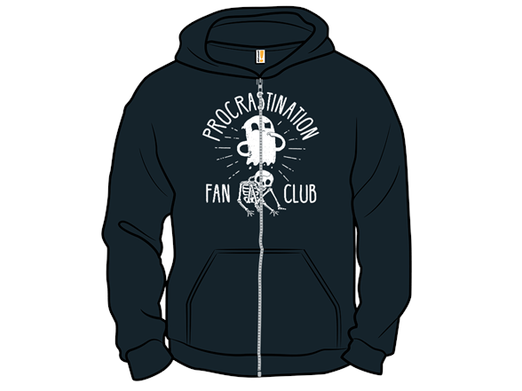 Procrastination Fan Club Crewneck Sweatshirt