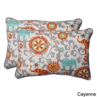Pillow Perfect Outdoor/ Indoor Menagerie Over-sized Rectangular Throw Pillow (Set of 2) (Grey)
