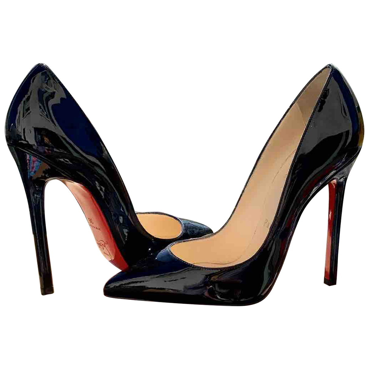 Christian Louboutin Pigalle Black Patent leather Heels for Women 3 UK