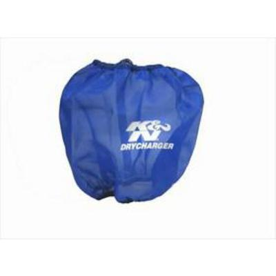 K&N DryCharger Oval Tapered Filter Wrap (Blue) - RF-1034DL