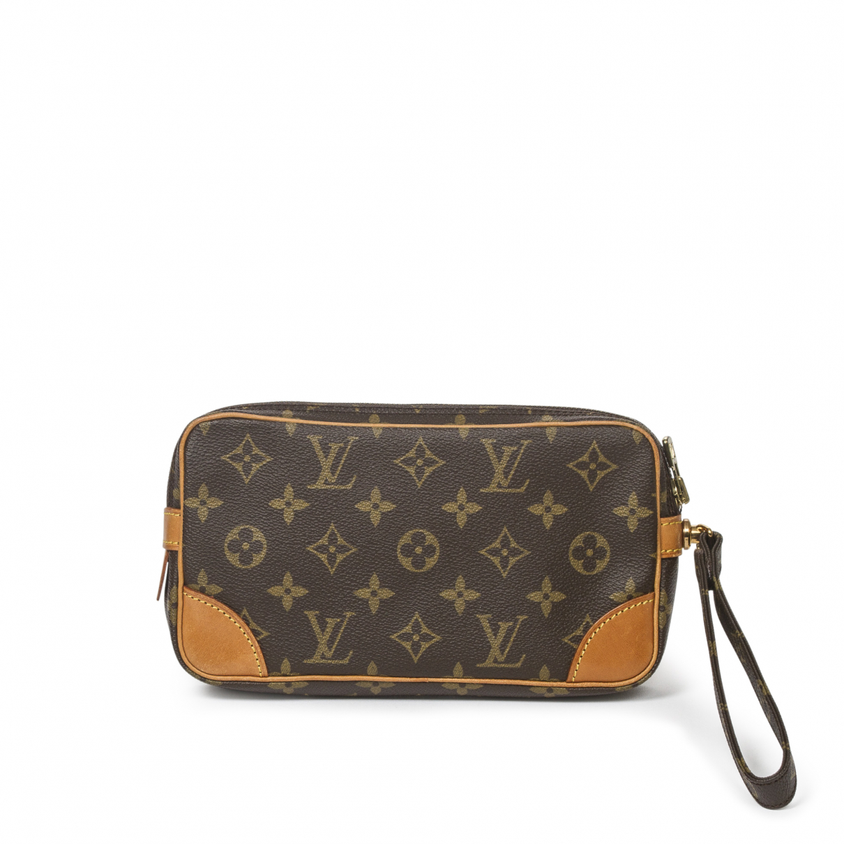 Louis Vuitton - Pochette Marly Dragonne  pour femme en coton - marron