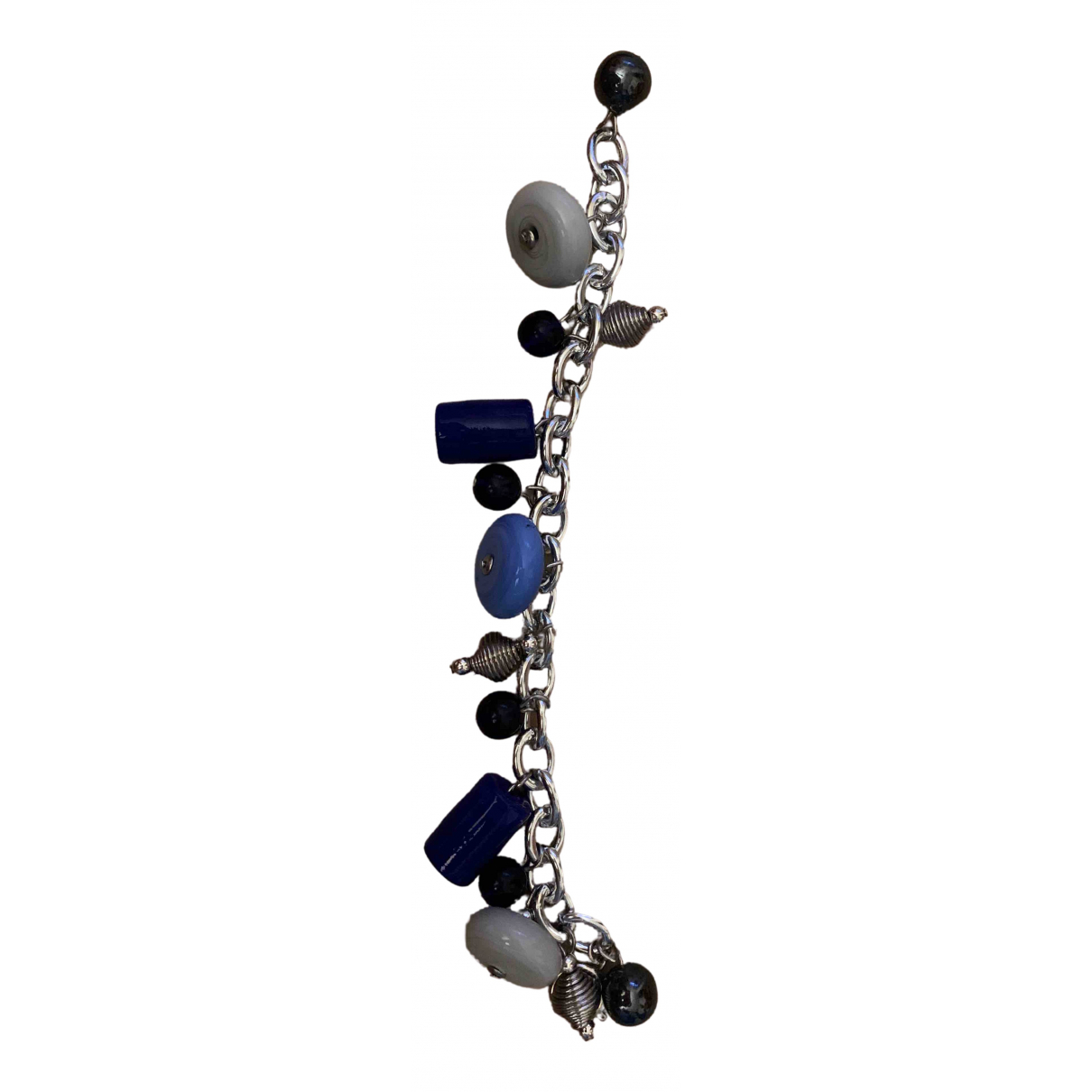 Non Signé / Unsigned \N Blue Glass bracelet for Women \N