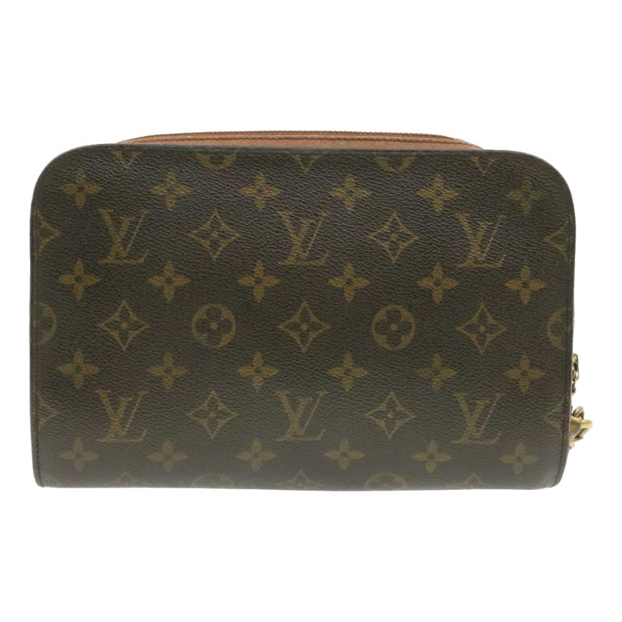 Louis Vuitton Orsay Clutch in  Braun Leinen