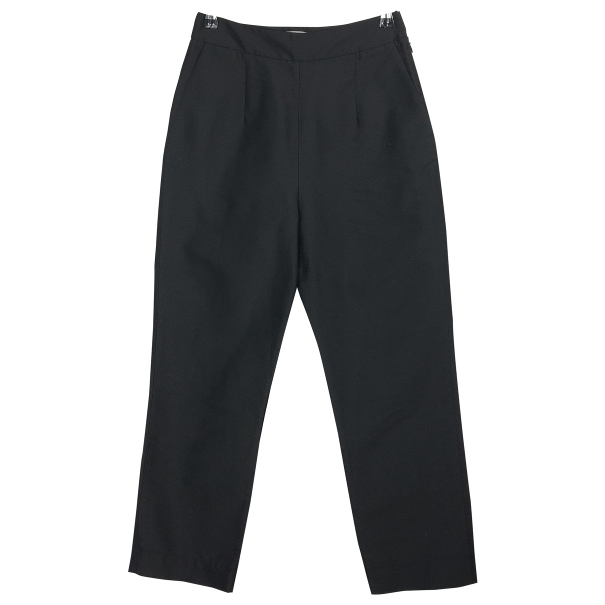 Isa Arfen \N Black Silk Trousers for Women 8 UK