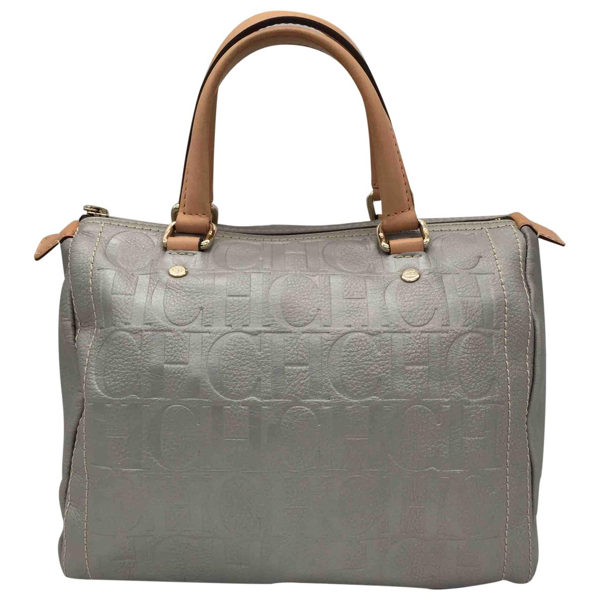 Carolina Herrera N Silver Leather handbag for Women N