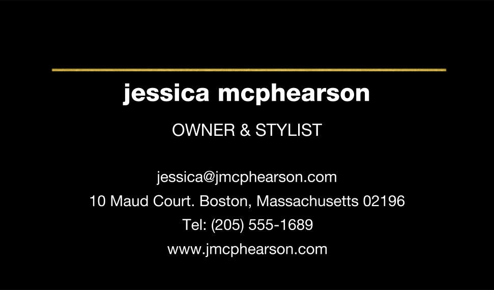 Modern Business Cards, Set of 40, Rounded Corners, Card & Stationery -Chic Gold