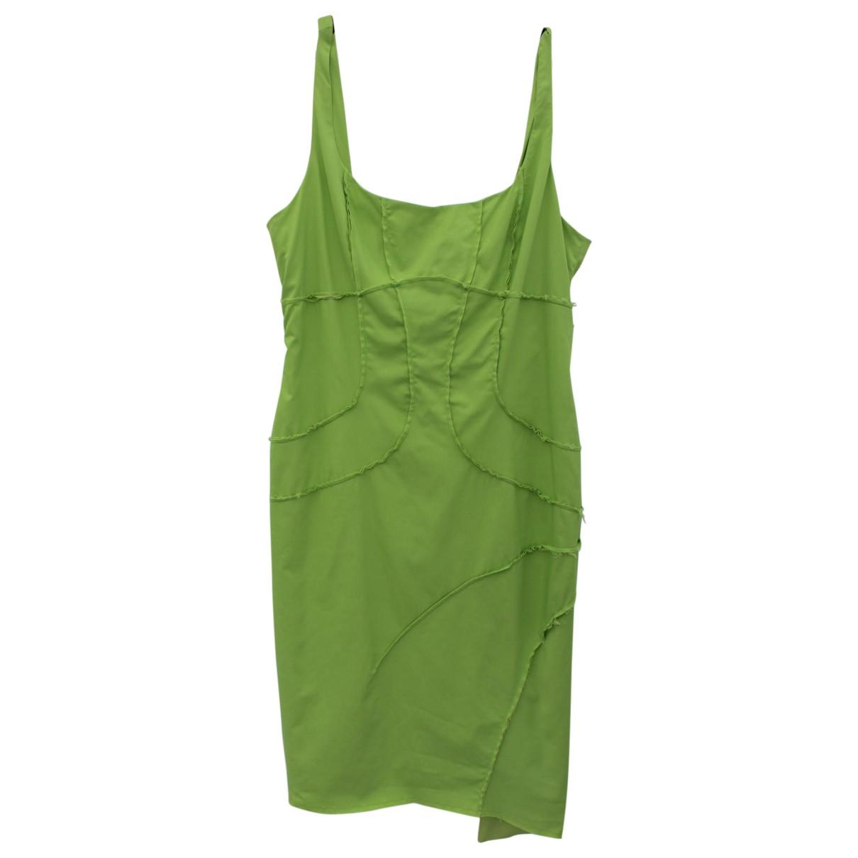 Mugler \N Kleid in  Gruen Synthetik