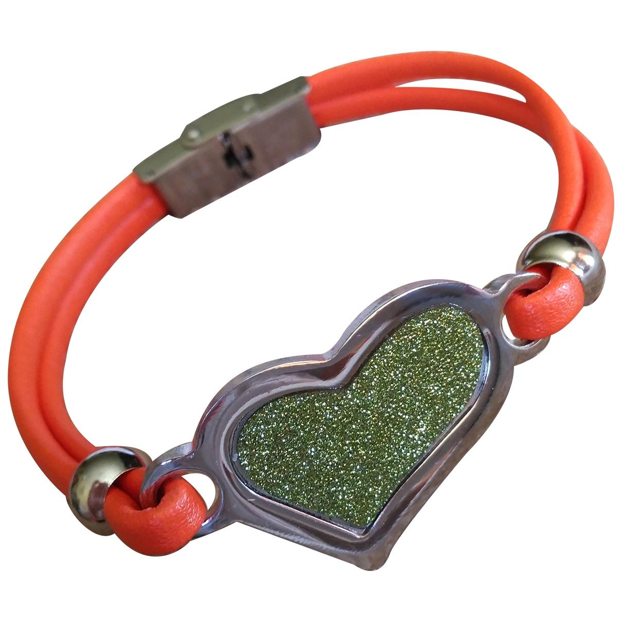 Non Signé / Unsigned \N Orange Cloth bracelet for Women \N
