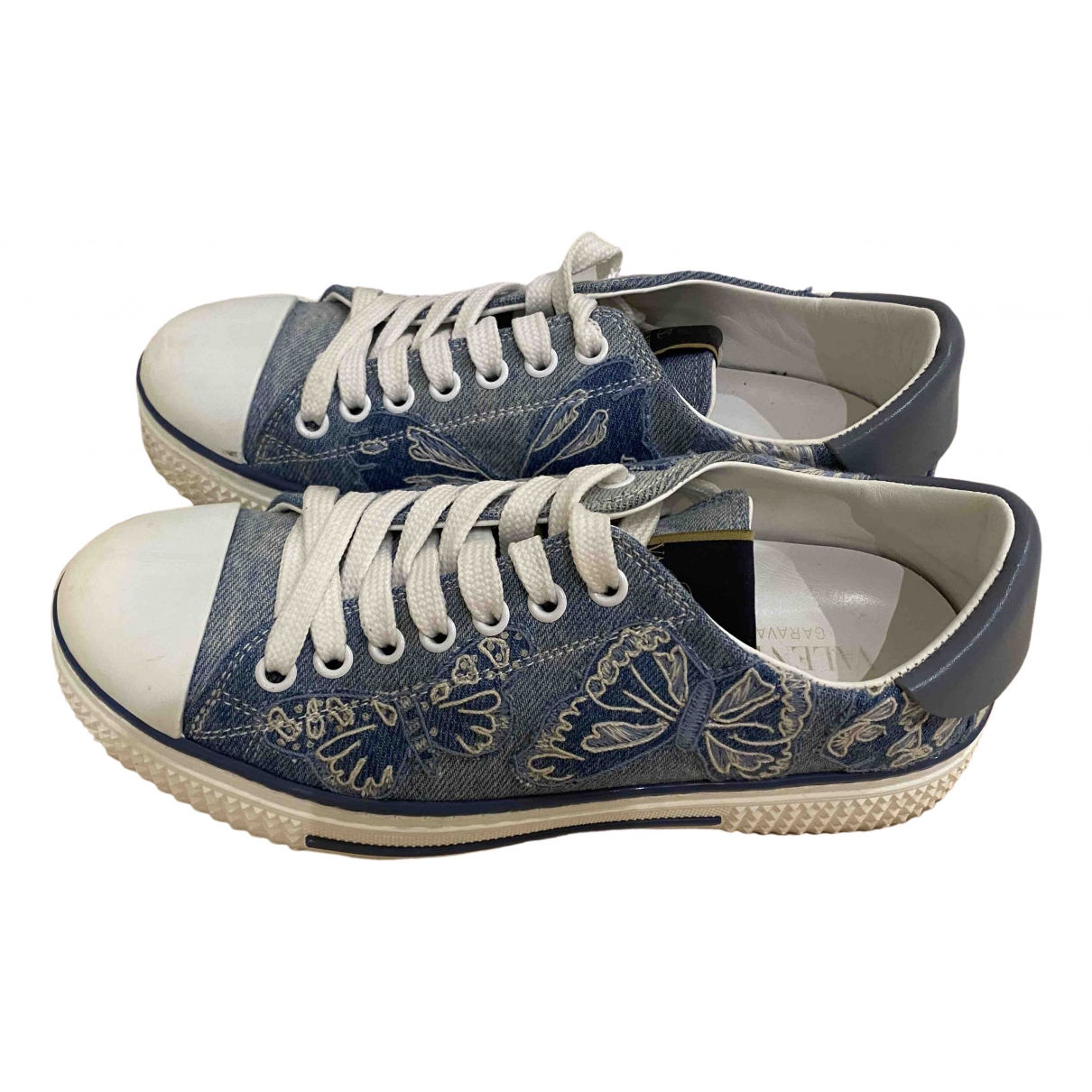 Valentino Garavani \N Sneakers in  Blau Leinen