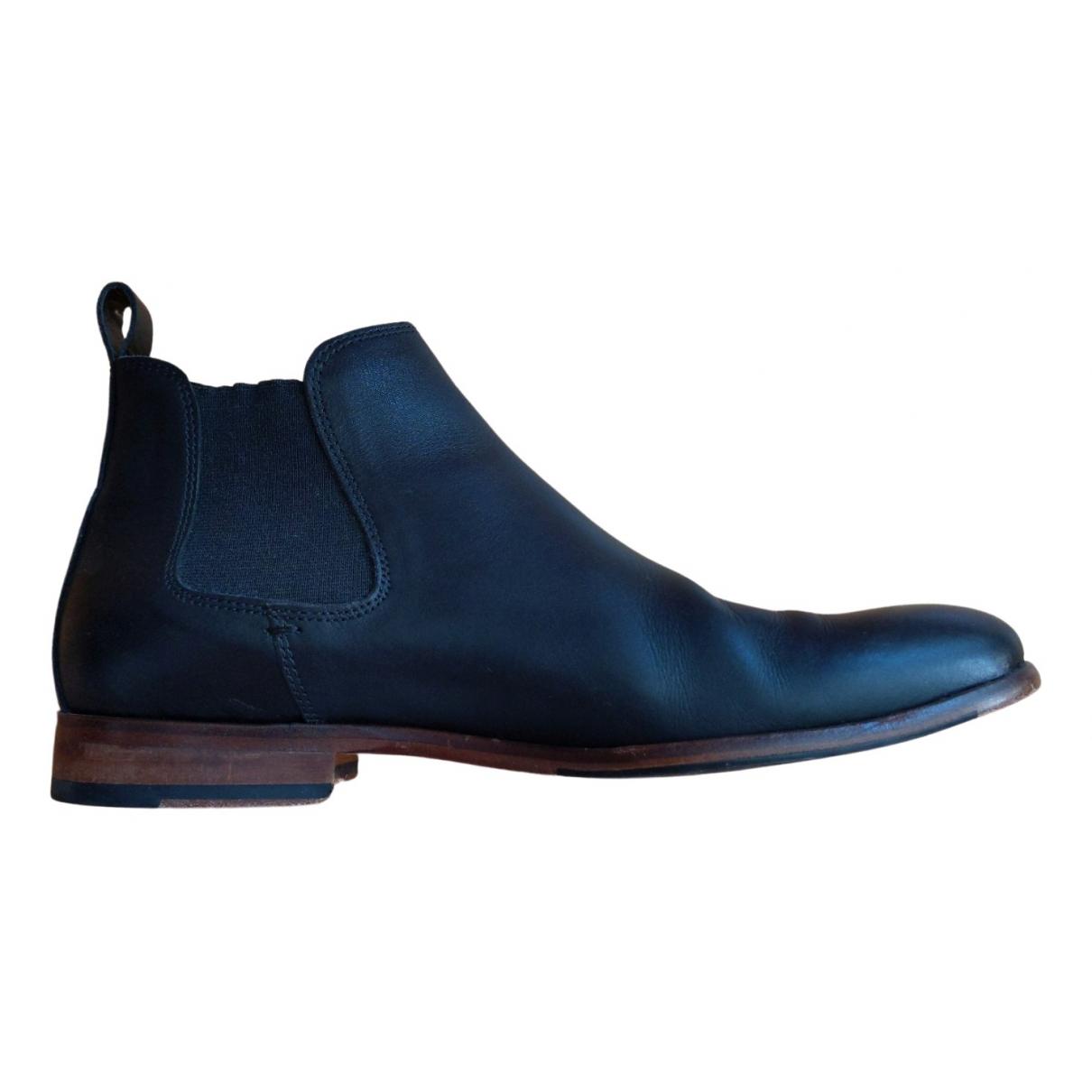 Paire & Fils \N Black Leather Boots for Men 43 EU