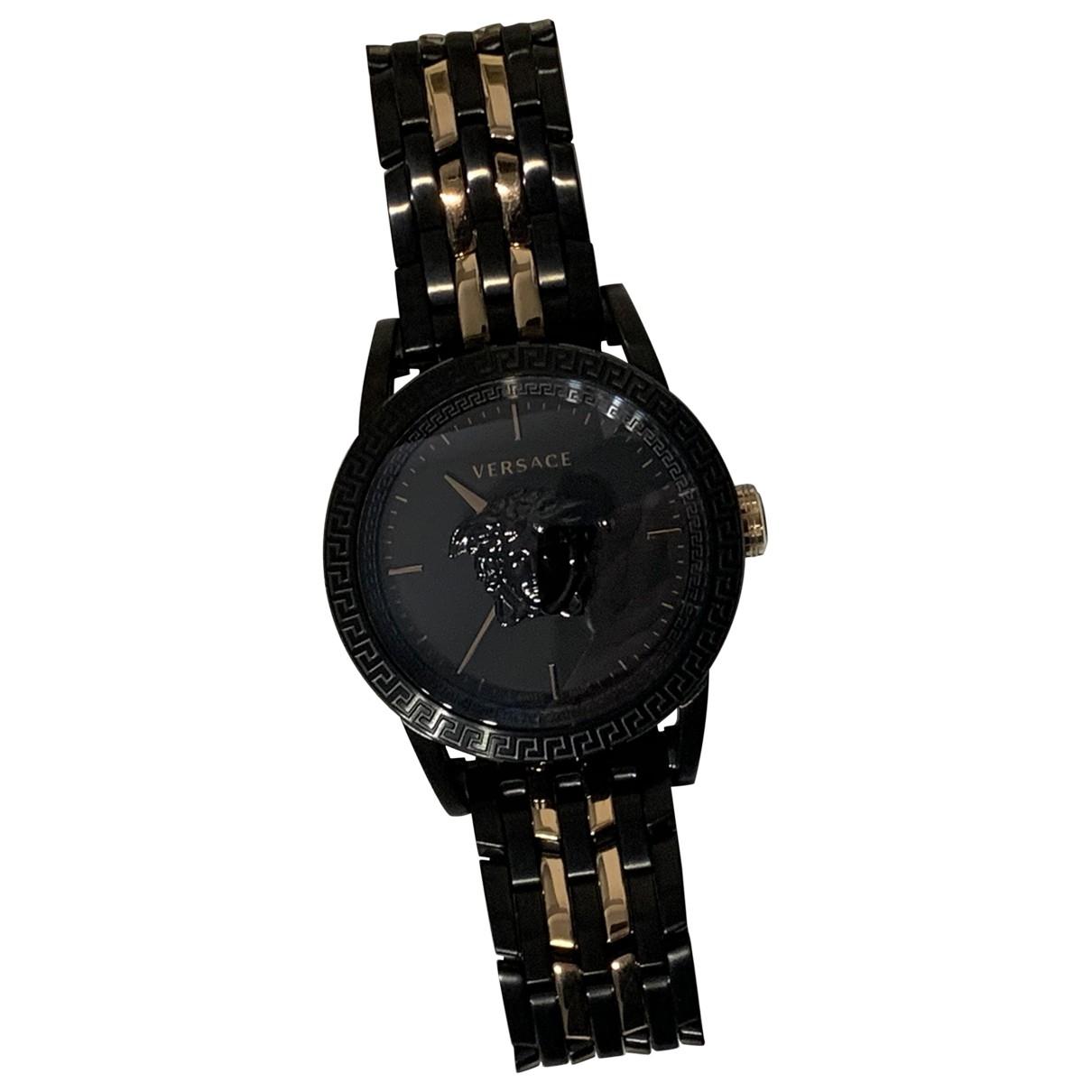Versace - Montre   pour homme en acier - noir