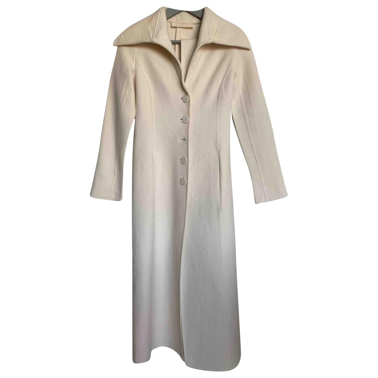 Valentino Garavani \N White Wool coat for Women 36 IT