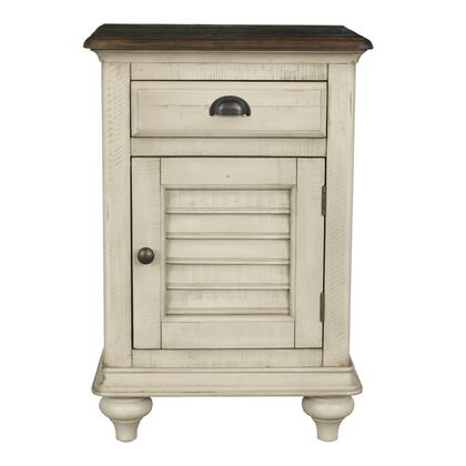 CF-2338-0490 Shades of Sand Nightstand - Narrow - Drawer - Cabinet  in Antique White and Natural
