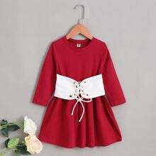 Vestidos para niña pequeña Lazada Monocolor Casual