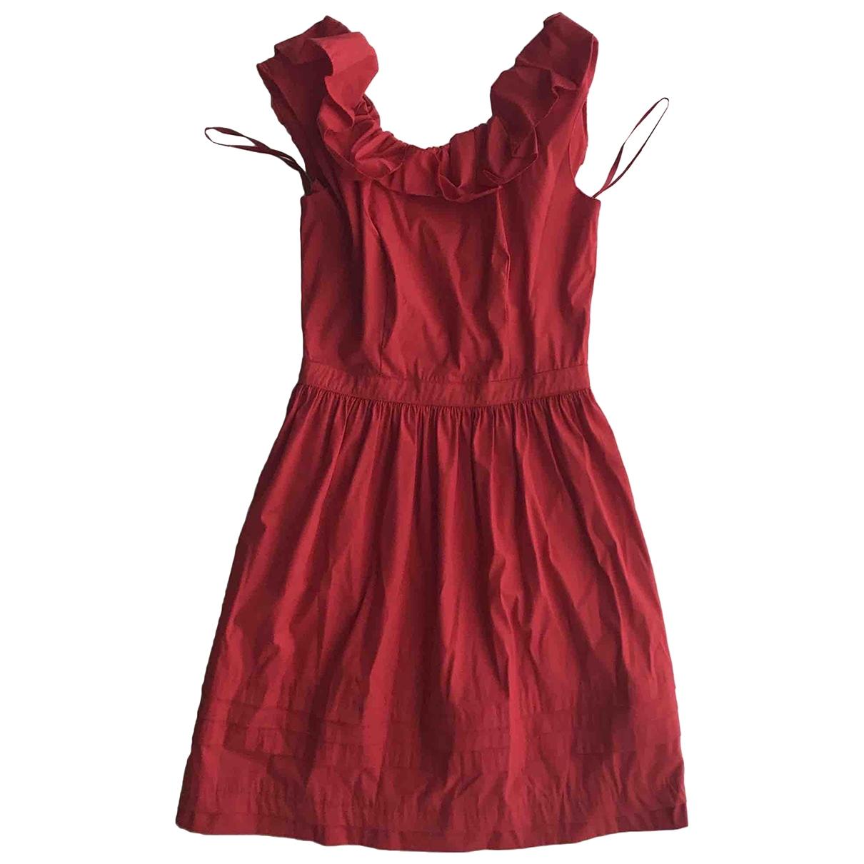 Prada \N Kleid in  Rot Baumwolle - Elasthan
