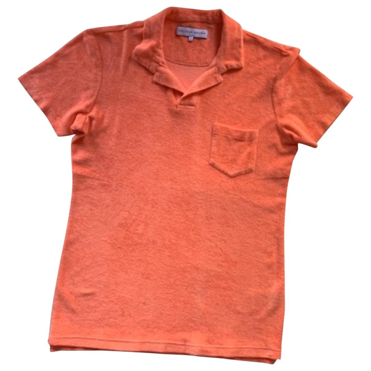 Orlebar Brown \N Poloshirts in  Orange Baumwolle