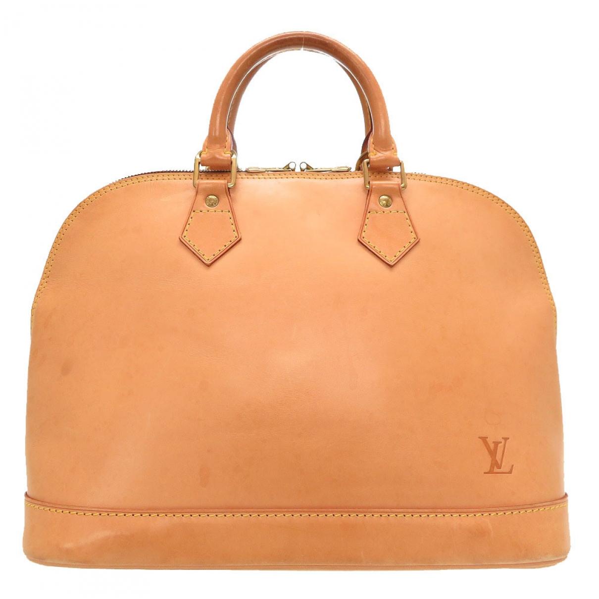 Louis Vuitton - Sac a main Alma pour femme en cuir - camel