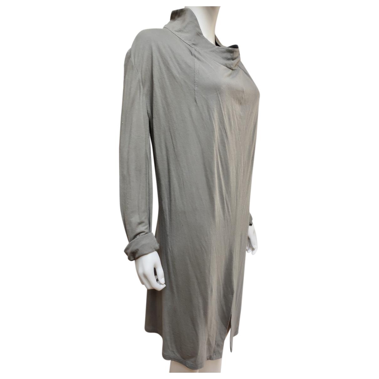 Yves Saint Laurent - Robe   pour femme en coton - kaki