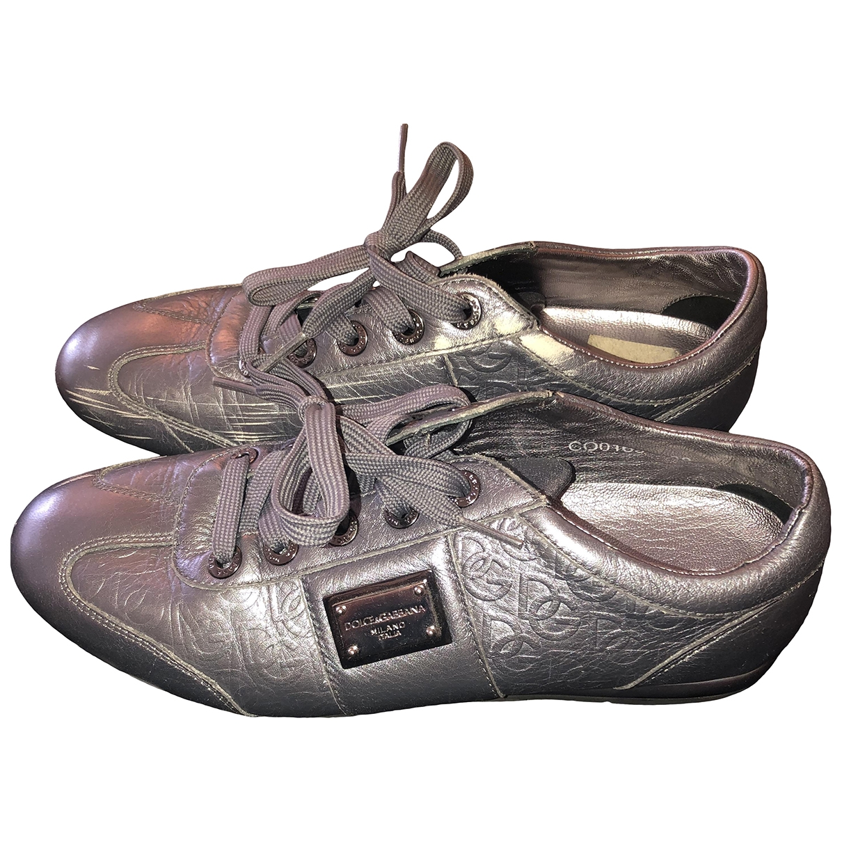 Dolce & Gabbana \N Grey Leather Trainers for Women 38 EU