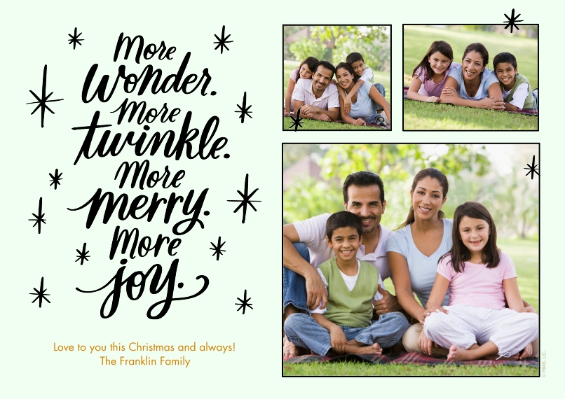 Christmas Photo Cards Set of 20, Premium 5x7 Foil Card, Card & Stationery -More Wonder, More Twinkle, More Joy by Hallmark