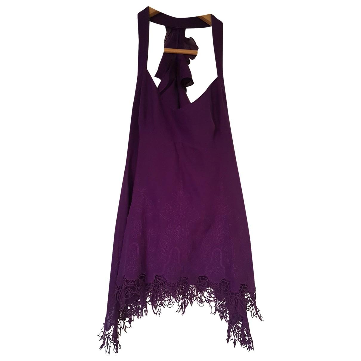 Karen Millen \N Purple Silk  top for Women 8 UK