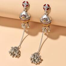 Jhumka Bell Tassel Charm Drop Earrings