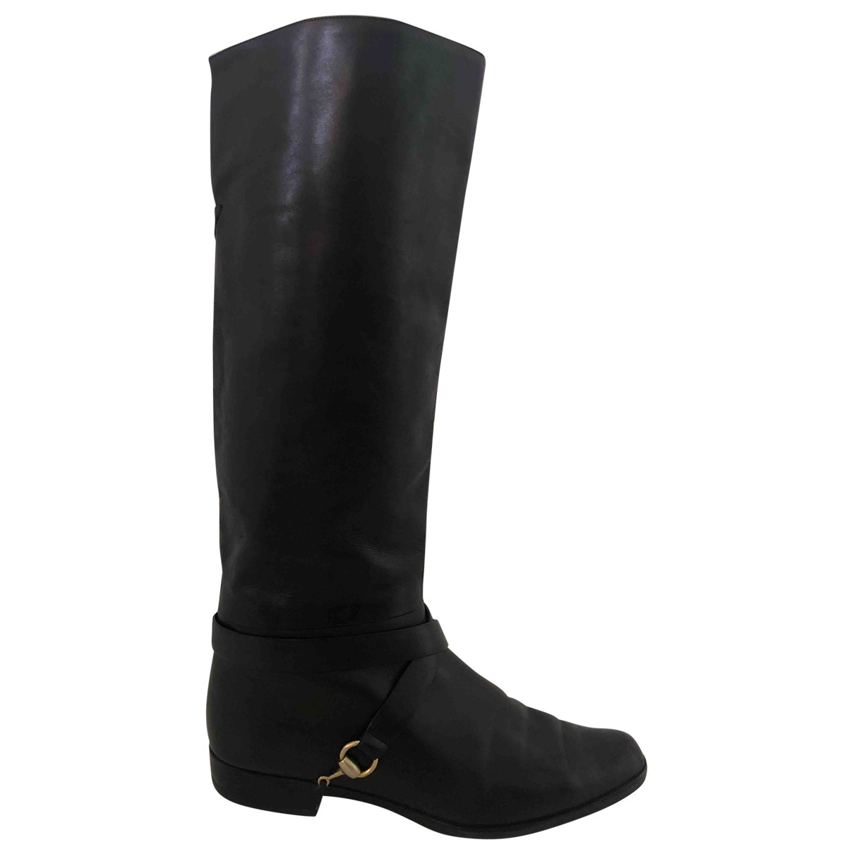 Gucci \N Black Leather Boots for Women 38 IT