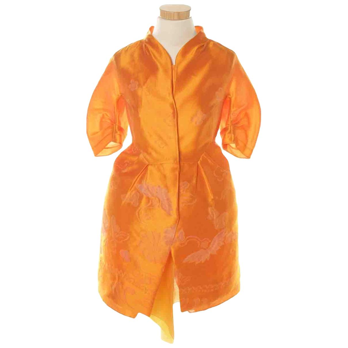 Shiatzy Chen - Robe   pour femme en soie - orange