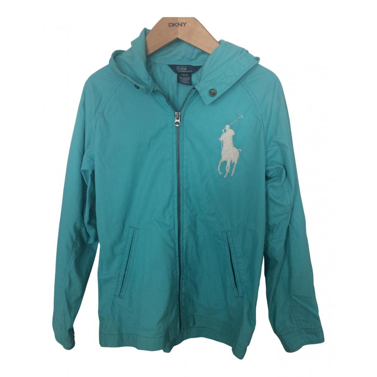 Polo Ralph Lauren - Blousons.Manteaux   pour enfant en coton - turquoise