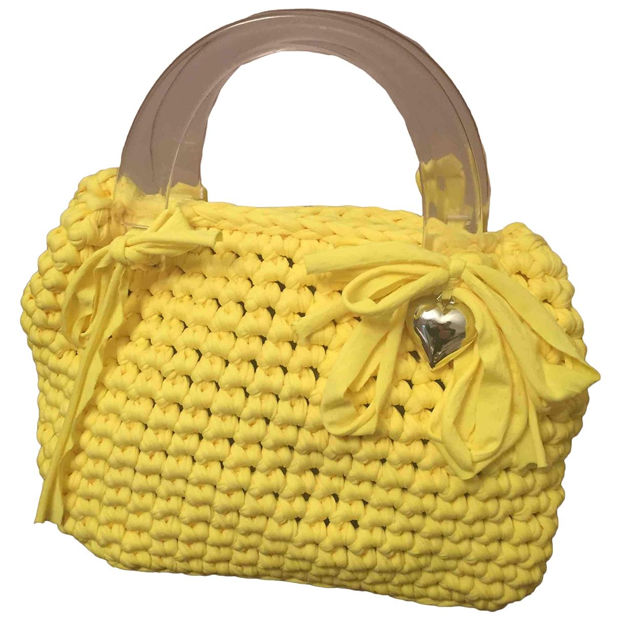 - Sac a main   pour femme en coton - jaune