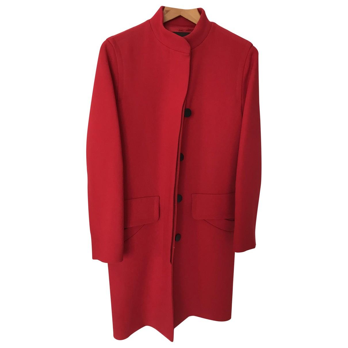 Louis Vuitton - Manteau   pour femme en laine - rouge