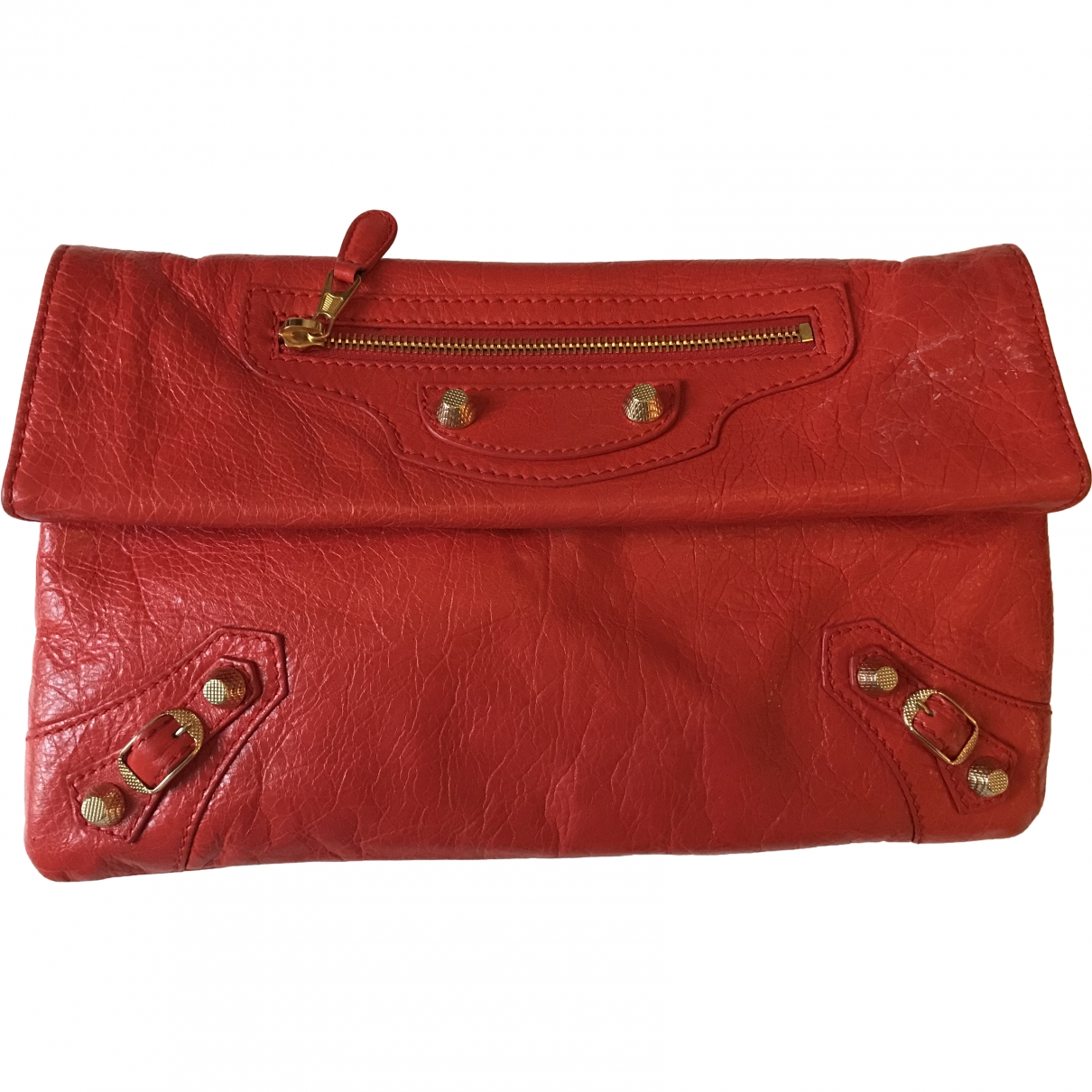Balenciaga Envelop Orange Leather Clutch bag for Women \N