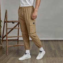Pantalones para hombre Bolsillo Liso Calle
