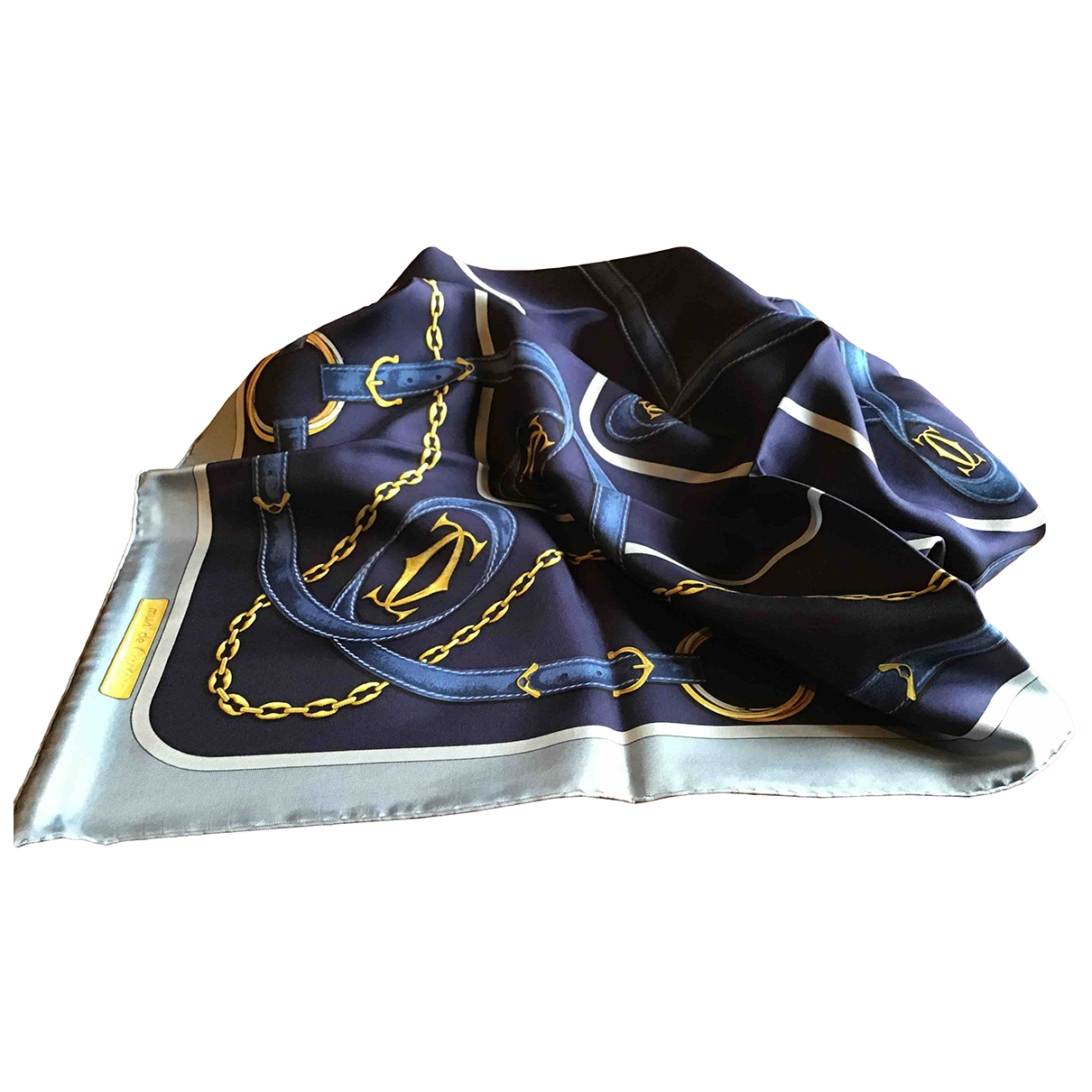 Cartier \N Blue Silk Silk handkerchief for Women \N