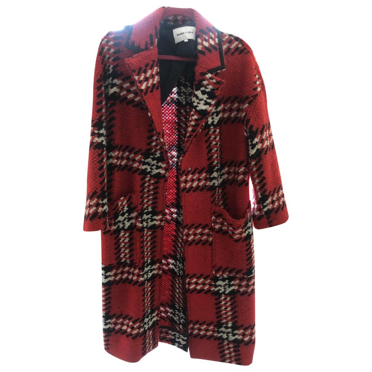 Bimba Y Lola \N Red Wool coat for Women 38 FR