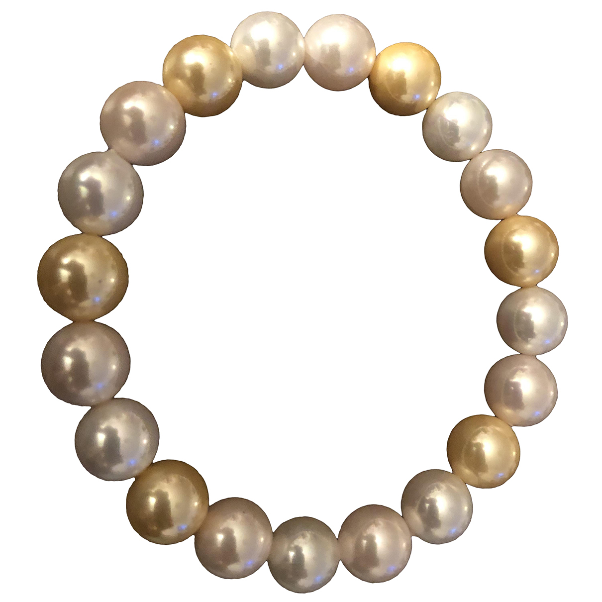 - Bracelet Nacre pour femme en perles - jaune