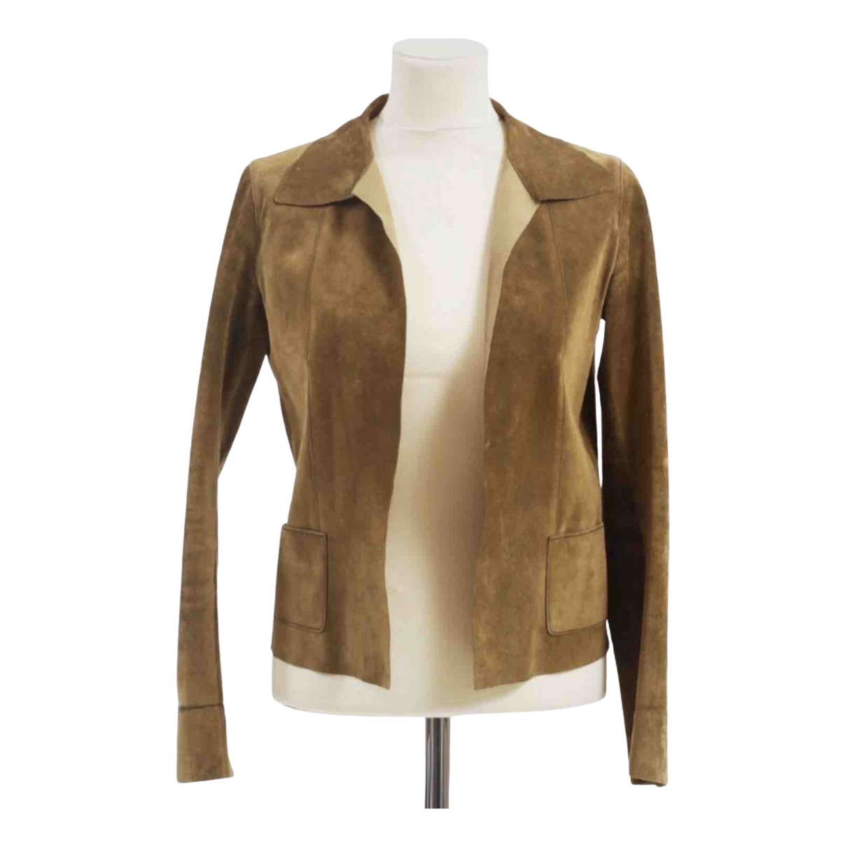 Prada \N Camel Suede jacket for Women 40 FR