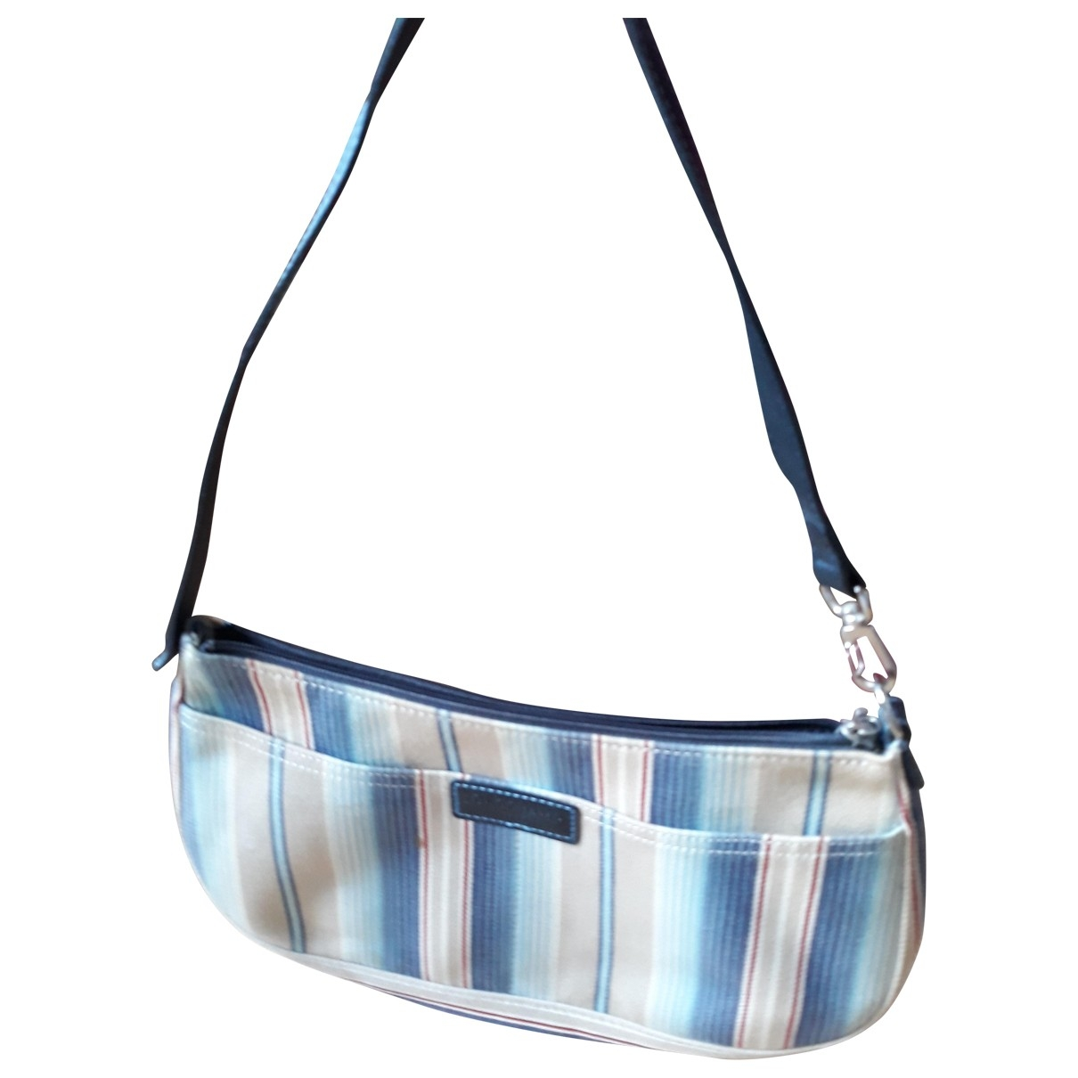 Longchamp - Sac a main   pour femme en coton - bleu